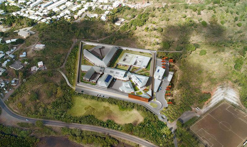 Conception et réalisation de la maison d'arrêt de Majicavo de Mayotte